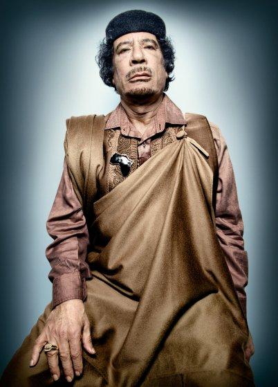 Portrait of Libyan leader Muammar Gaddafi, by Platon