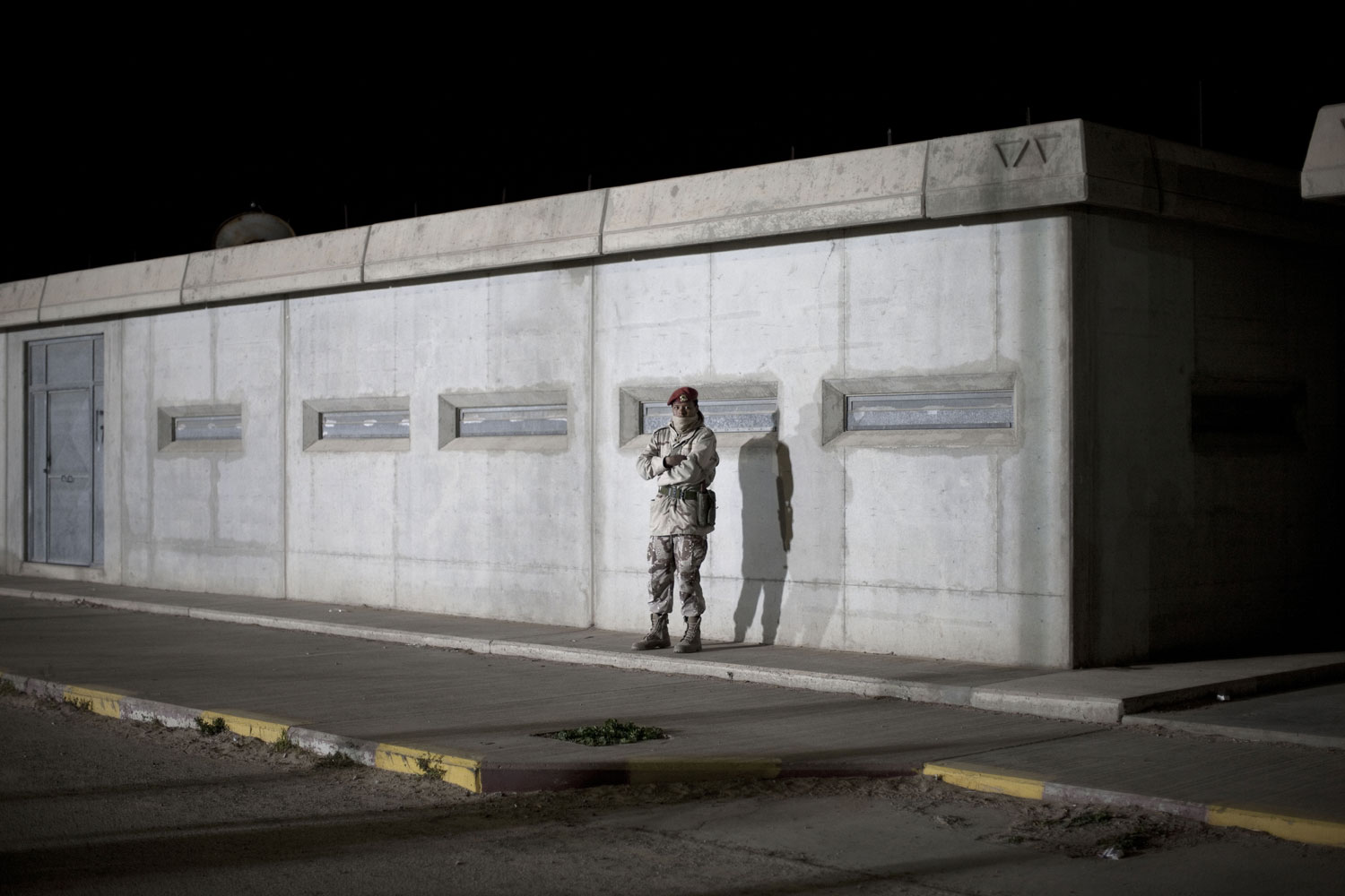 A Libyan soldier at nightfall, March 19, 2011.