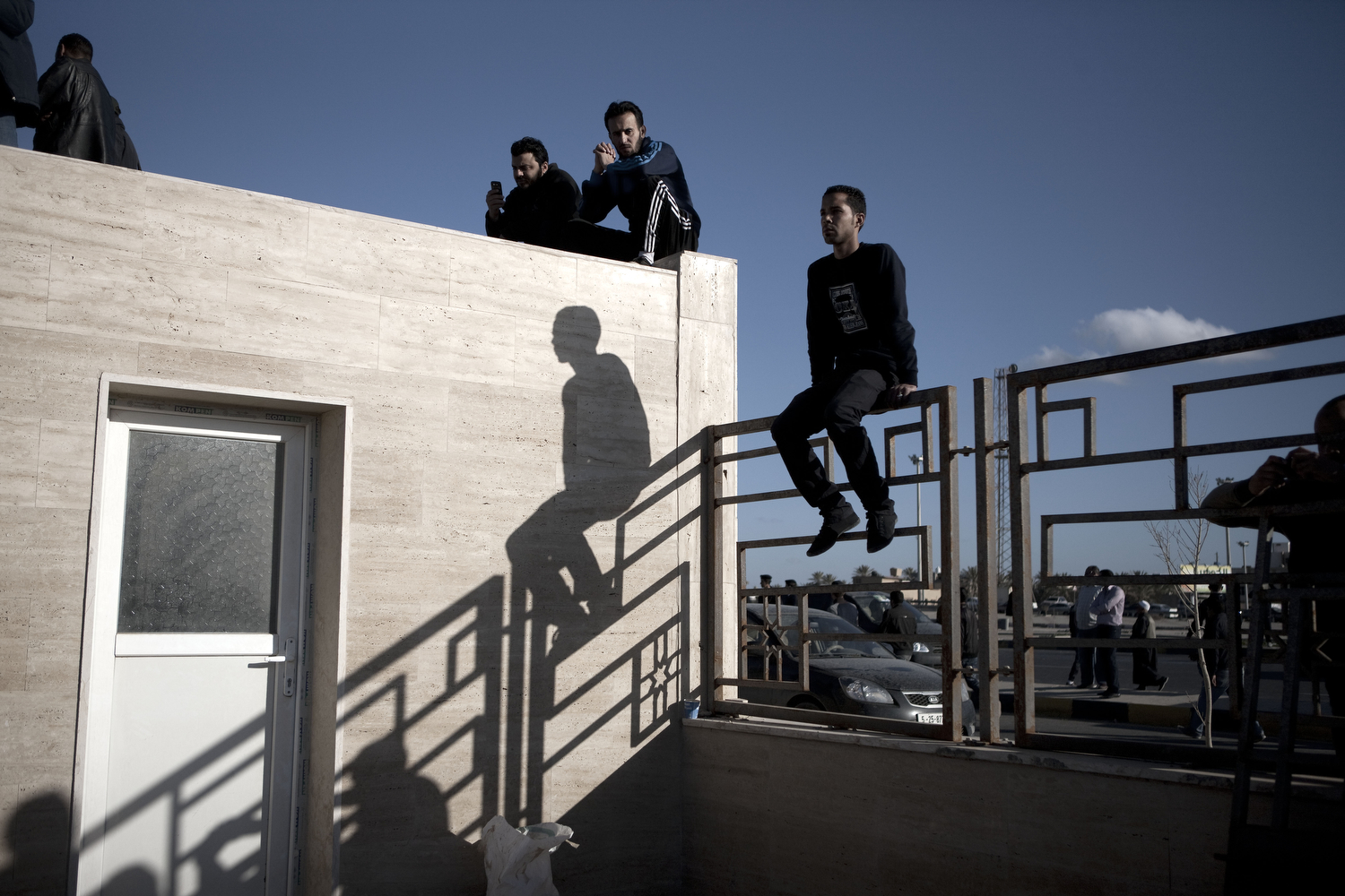 Libyans waiting for bodies, March 20, 2011.