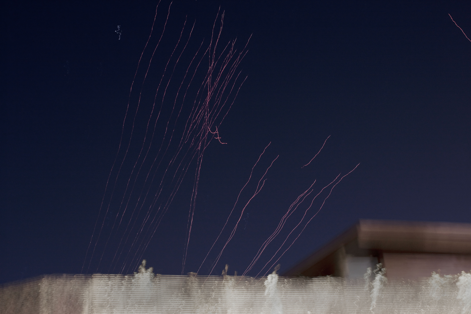 Anti-aircraft fire over Tripoli, March 21, 2011.