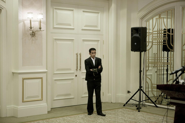 A press conference in the Rixos Hotel in Tripoli, March 22, 2011.