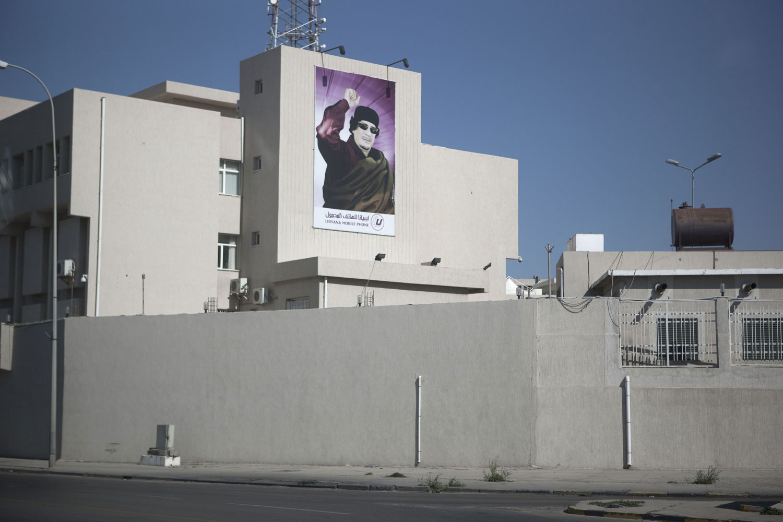 Empty streets in Tripoli, March 22, 2011.