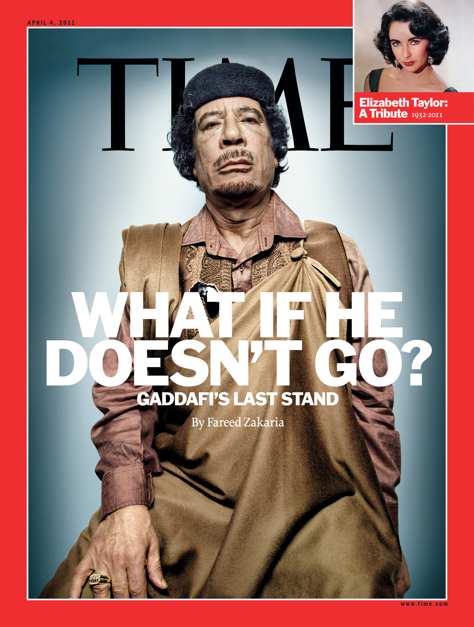 The cover of TIME, April 4, 2011.