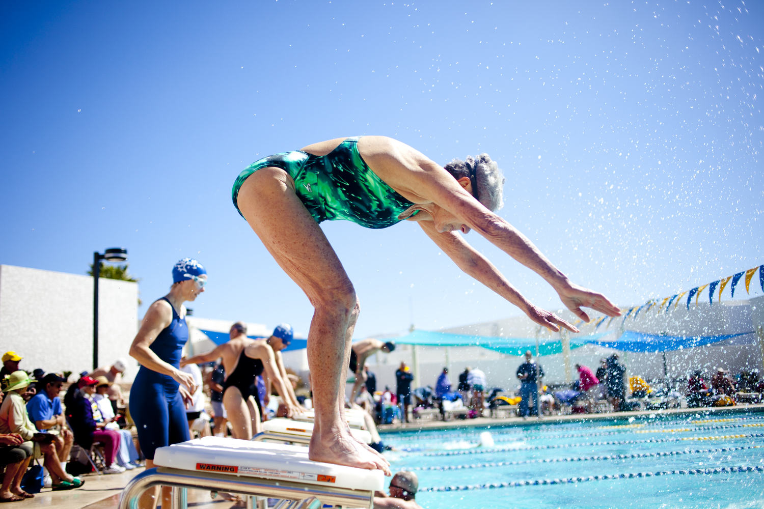 Swim Relays for the Arizona Senior Olympics take place at the Bell Recreation Center pool in Sun City, Arizona March 14, 2010.