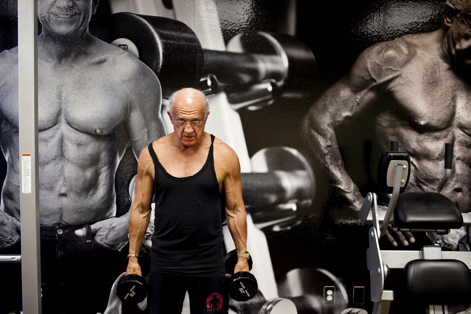 Dr. Jeffry Life after a morning workout in his Las Vegas, Nevada office, on April 4, 2011.  Dr. Life is 72 and has been a patient of Cenegenics, an age management practice, since 2003.