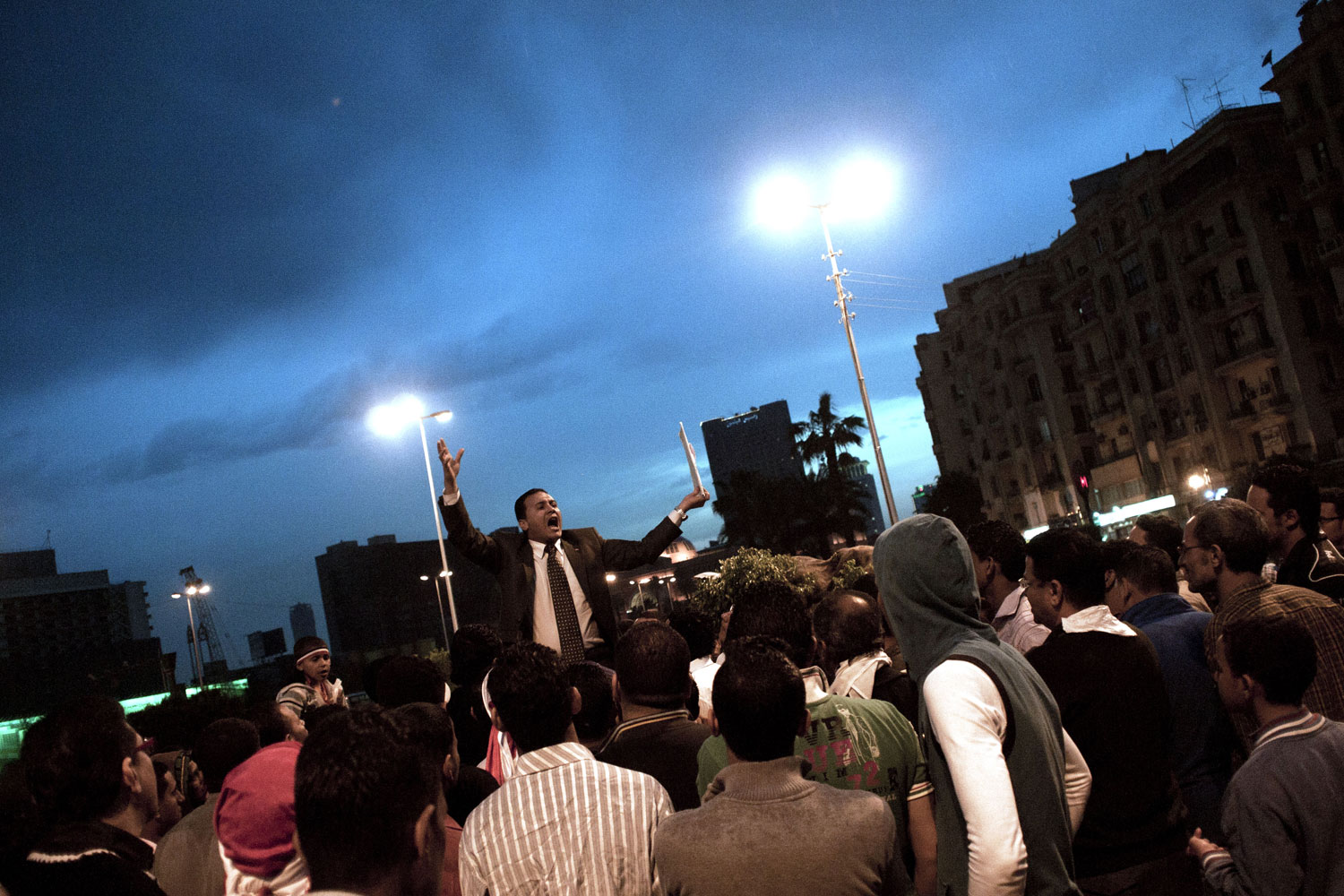 Protests continue at Tahrir Square, April 3, 2011.