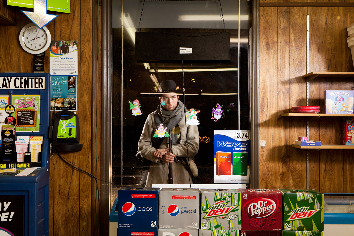 Perryville, Ky.                               Jonathan Harris stands outside the Mr. Miser Food Mart.