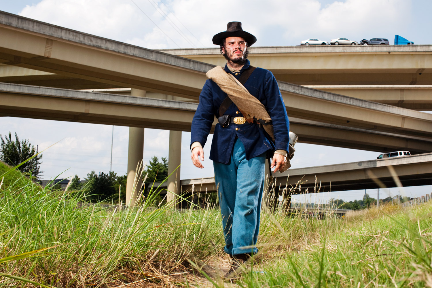 Nashville, Tn.                               Juston Pope walks on the site of the Nashville battlefield, only 1% of which is officially protected.