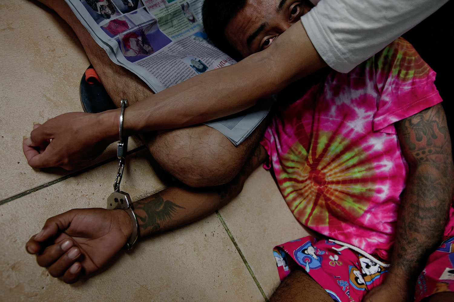 A raid on suspected meth dealers and users in Thailand's Pattaya City.