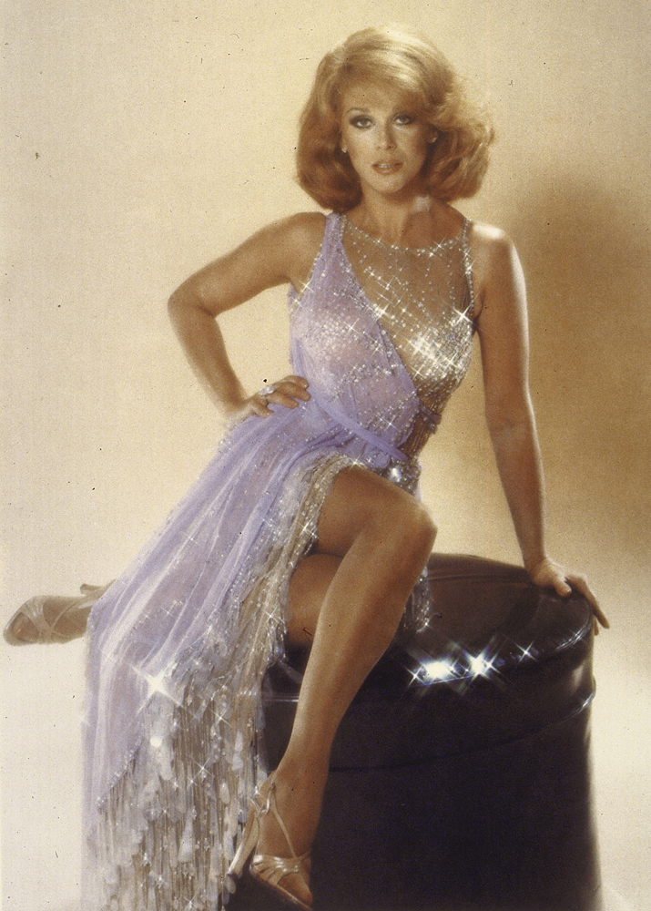 The Original Image                               Remarkably, Oprah's head has been spliced onto the body of glam actress Ann-Margaret. The manipulation was immediately detected by Ann-Margaret's fashion designer Bob Mackie, who created the gown.