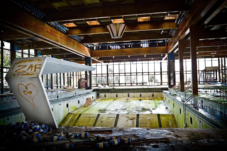 Indoor pool, Grossinger's Hotel, 2010