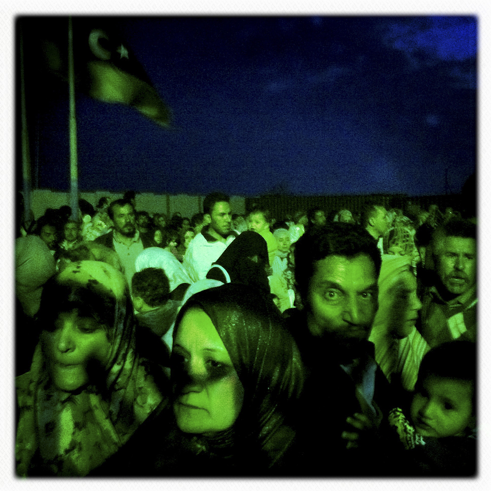 Libyans waiting at the port in hopes of departing for Benghazi from Misratah, Libya, April 19, 2011.