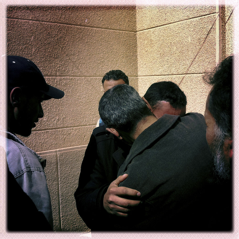 Before a funeral for an opposition fighter, Ajdabiya, Libya, March 3, 2011.