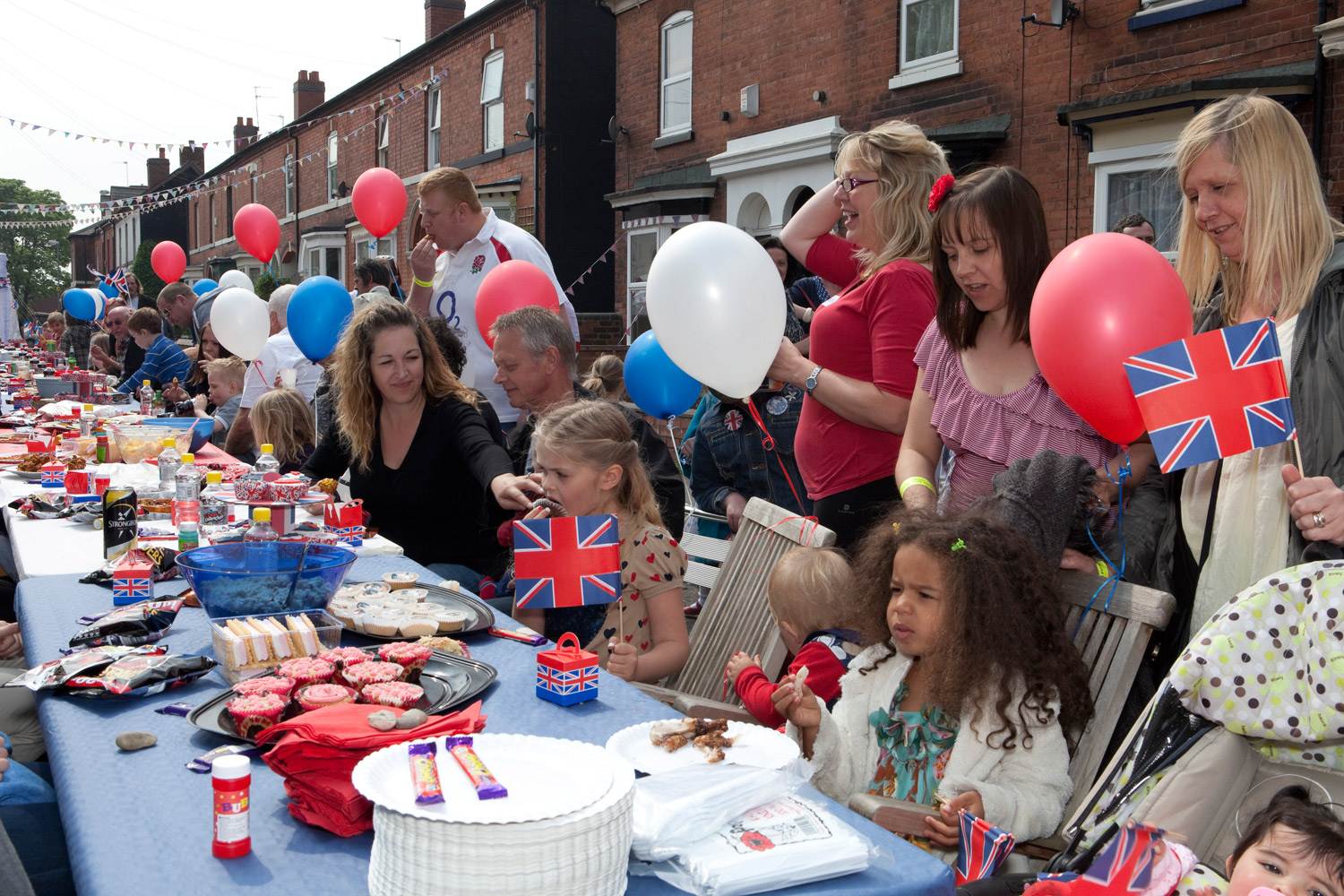 A street party on Westbourne Street in Walsall, England.