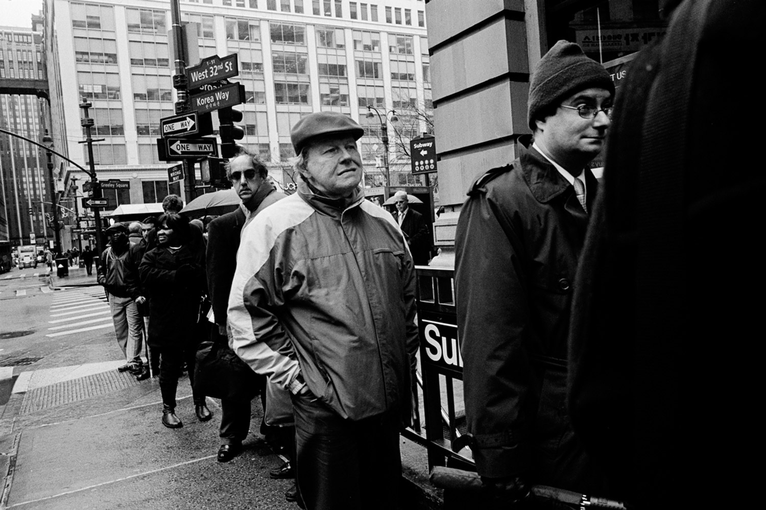 People line up to enter the NYCHires Job Fair at the Radisson Martinique On Broadway Hotel, New York, New York                               February 24, 2010.                                                               The main thing I found most inspiring about the FSA photographers is the way they photographed the faces of the American people with such dignity,  Suau says,  regardless of their personal situation. Respect is almost always paid to the subjects; the people in the photographs appear strong and steadfast. Often the subjects are so beautiful that you can view them again and again without them losing their magnetism or appeal. But they are not sentimental or glossy, as portraits today can be.