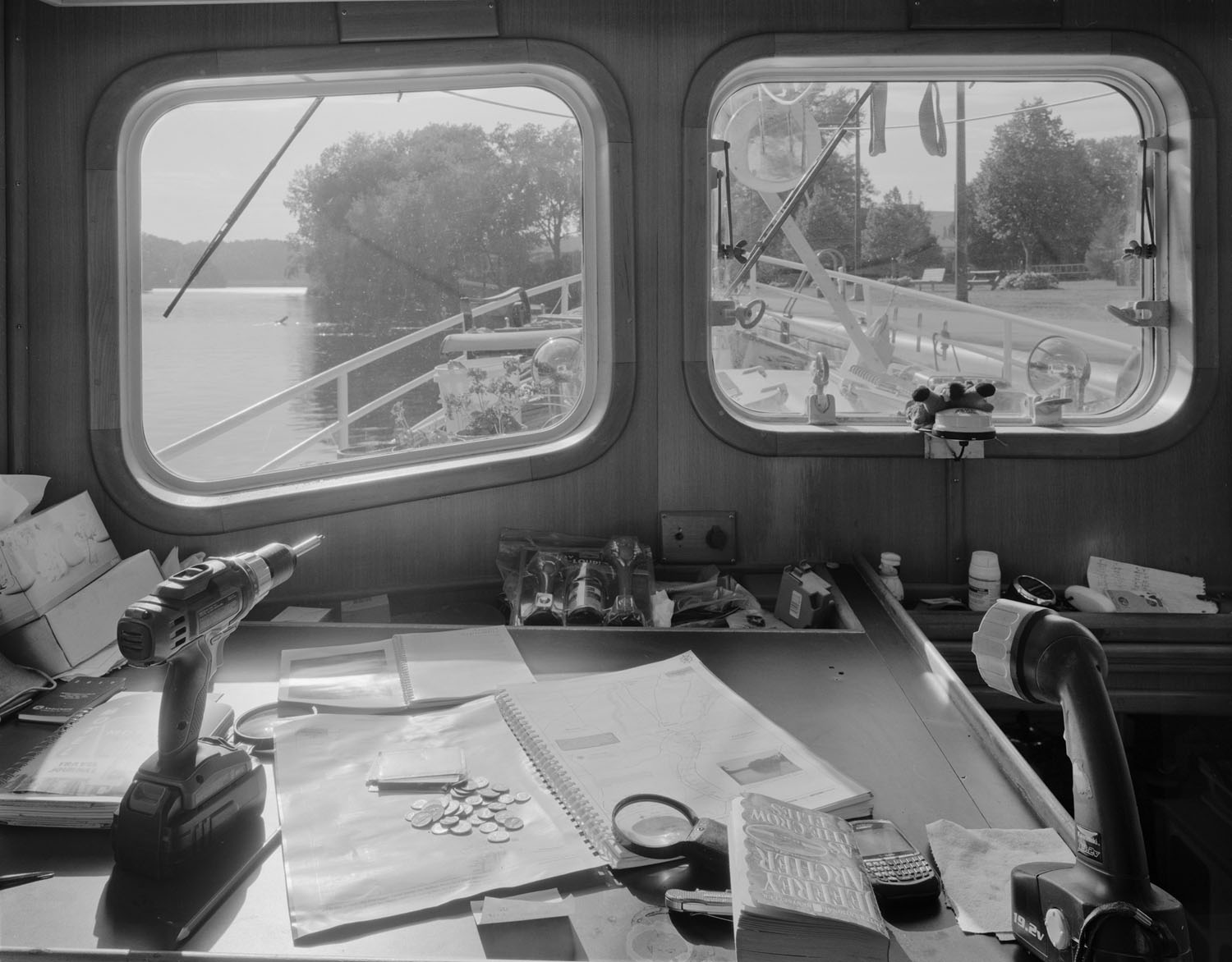Aboard a tugboat docked in Fort Edward, New York. 2010.
