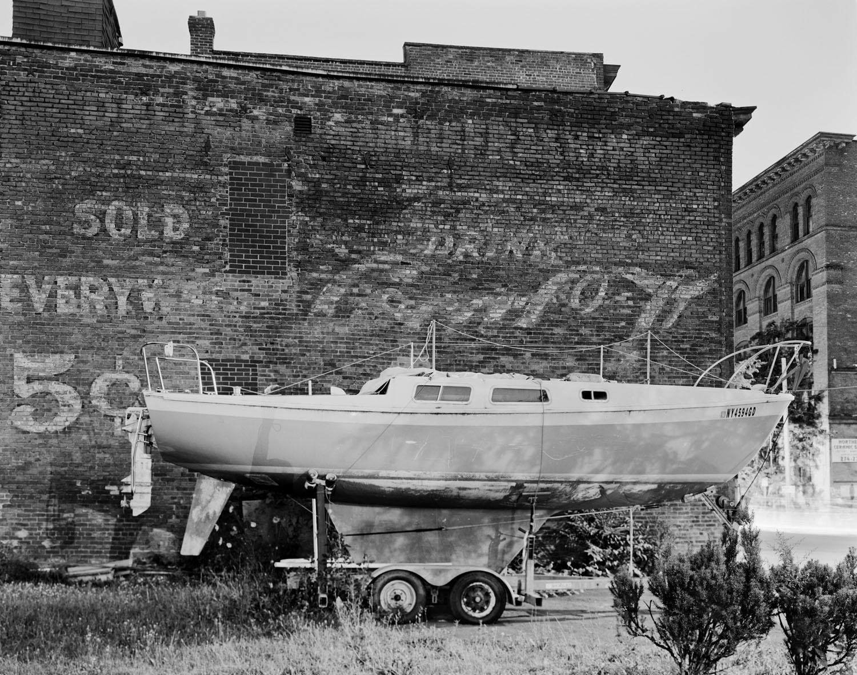 Drydocked boat in Troy, New York. 2010.