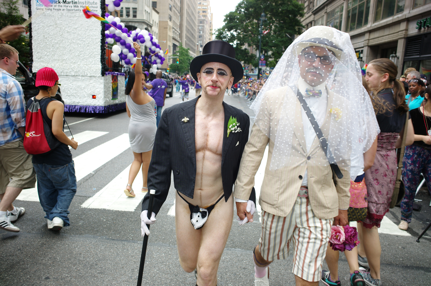 Marchers celebrating the right to marry, June 26, 2011.