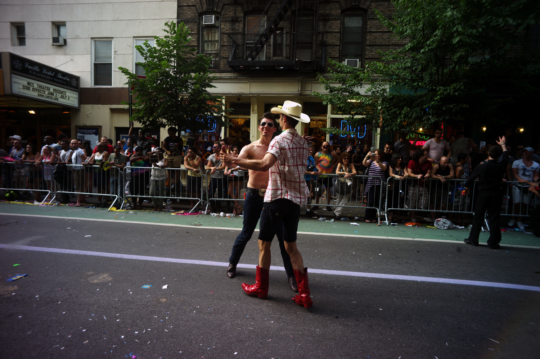 Dancing in the street, June 26, 2011.