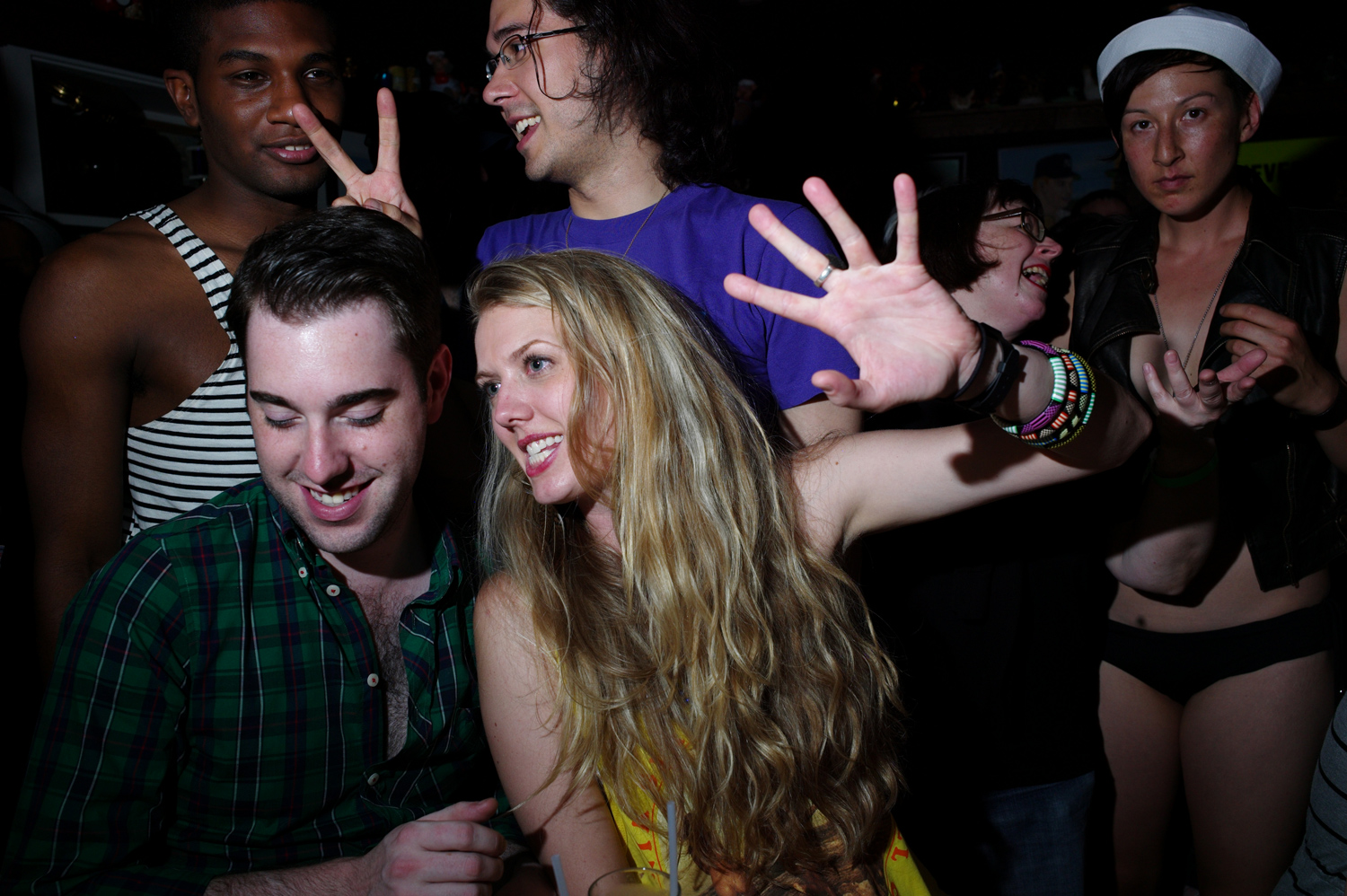 People celebrated the legislation late into the night at various spots around New York, including here, at the Spotted Pig in the West Village, June 26, 2011.