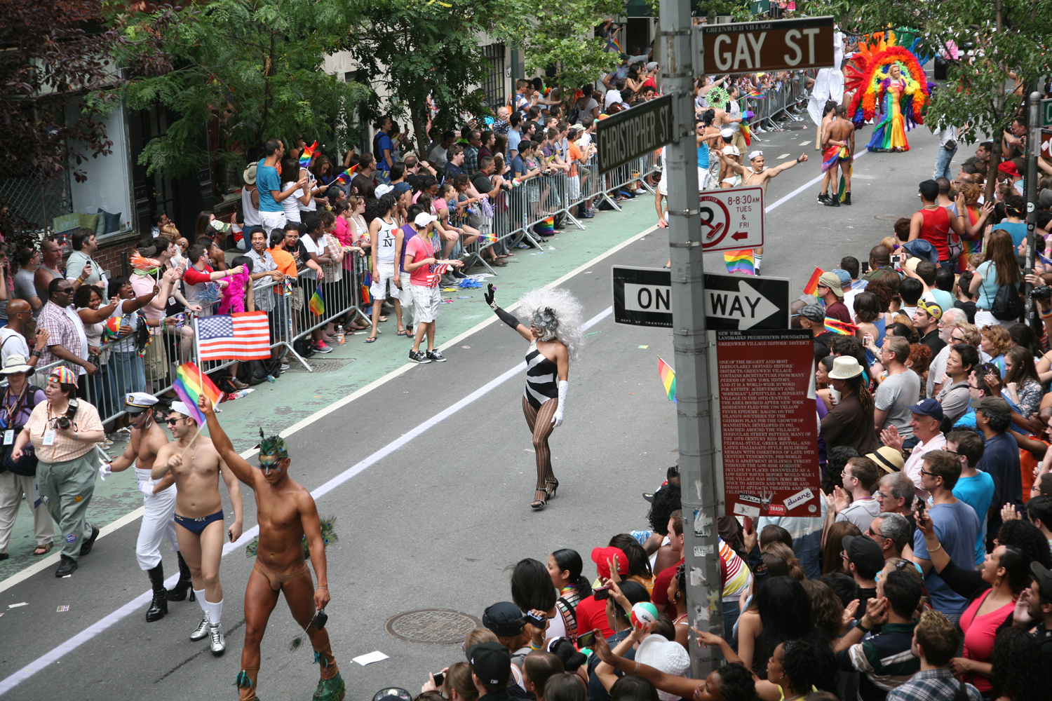 Festivities continued at the corner of Christopher and Gay Street as the parade reached the West Village, June 26, 2011.