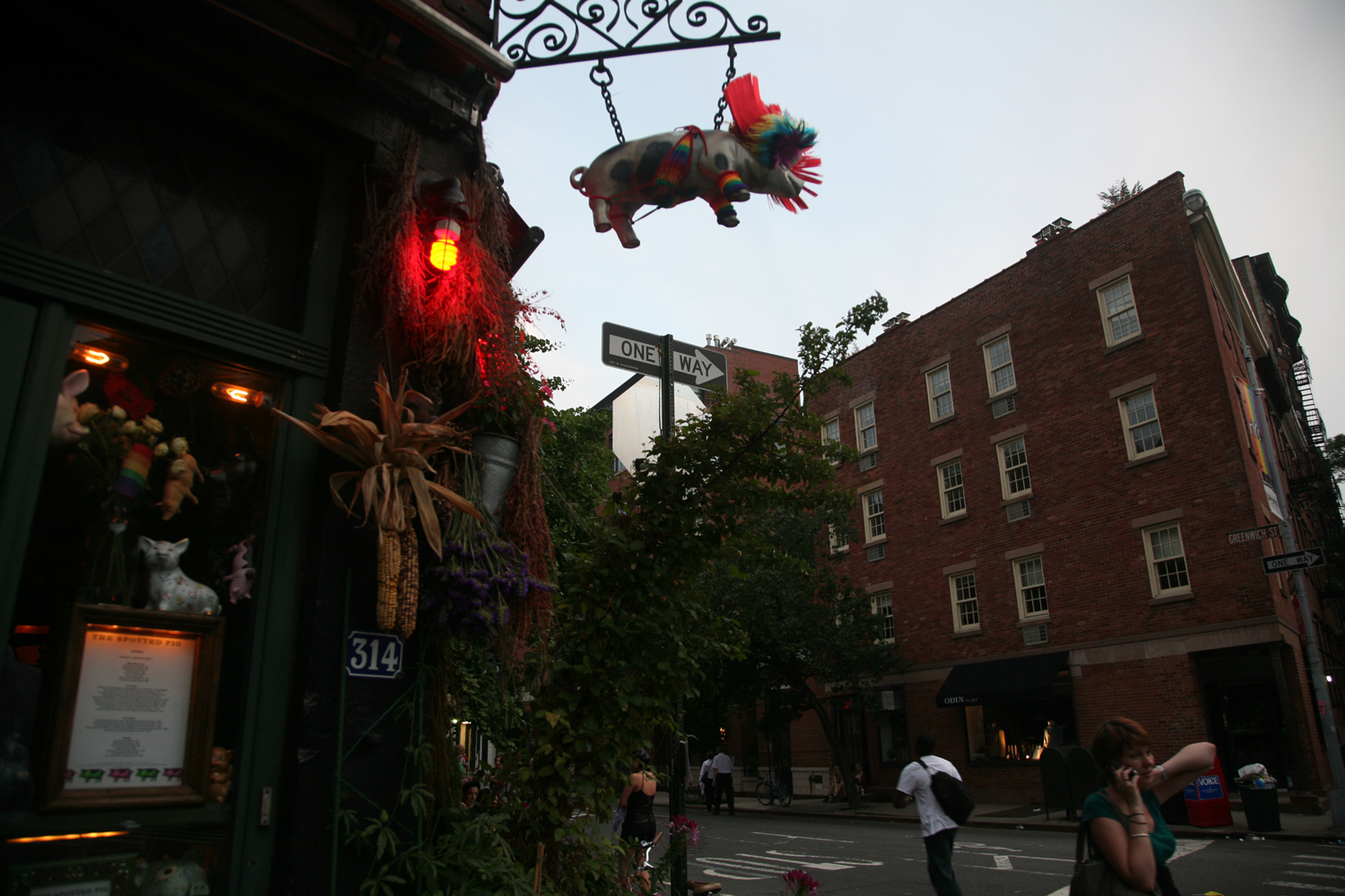 Outside the Spotted Pig in the West Village, June 26, 2011.