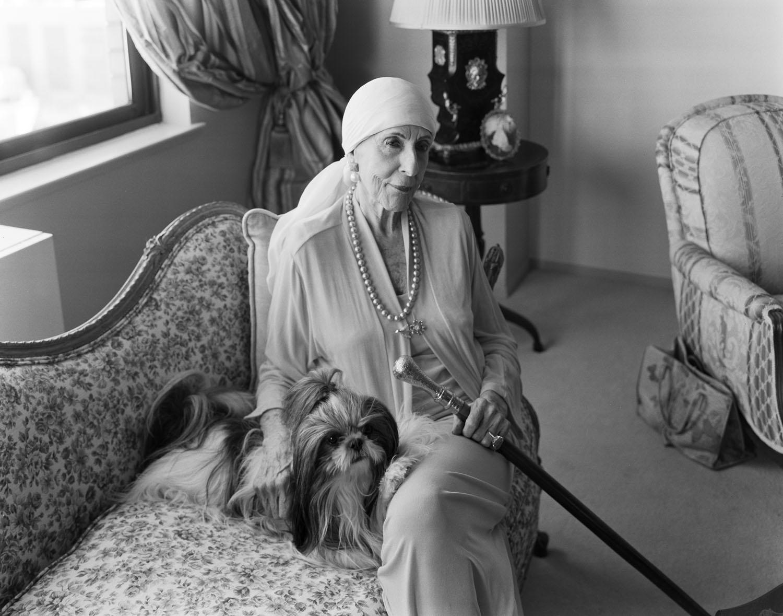 Celestina Wainwright-Wallis, a Manhattan grand dame, at her home on Fifth Avenue. 2009.