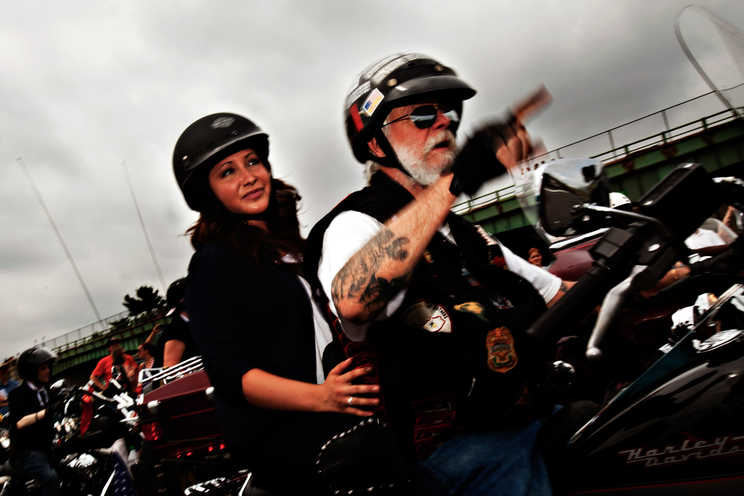 Bristol Palin, daughter of Sarah Palin, takes part in the Rolling Thunder motorcycle ride to honor U.S. veterans in Washington May 29, 2011.