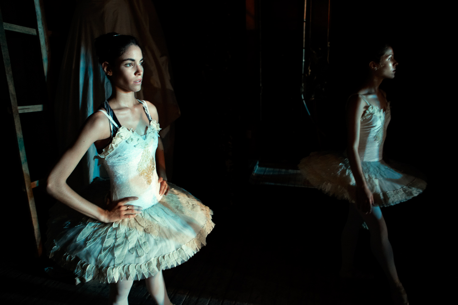 A young dancer of the Ballet Nacional de Cuba waits backstage during a performance of Swan Lake in Havana, Cuba, May 2011.                                                               The company will perform Tchaikovsky's ballet and other classics in the U.S.—its first tour of America in eight years and the first time many of these young dancers will set foot on American soil.