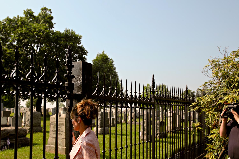 Sarah Palin visits Gettysburg, PA, Tuesday, May 31, 2011.