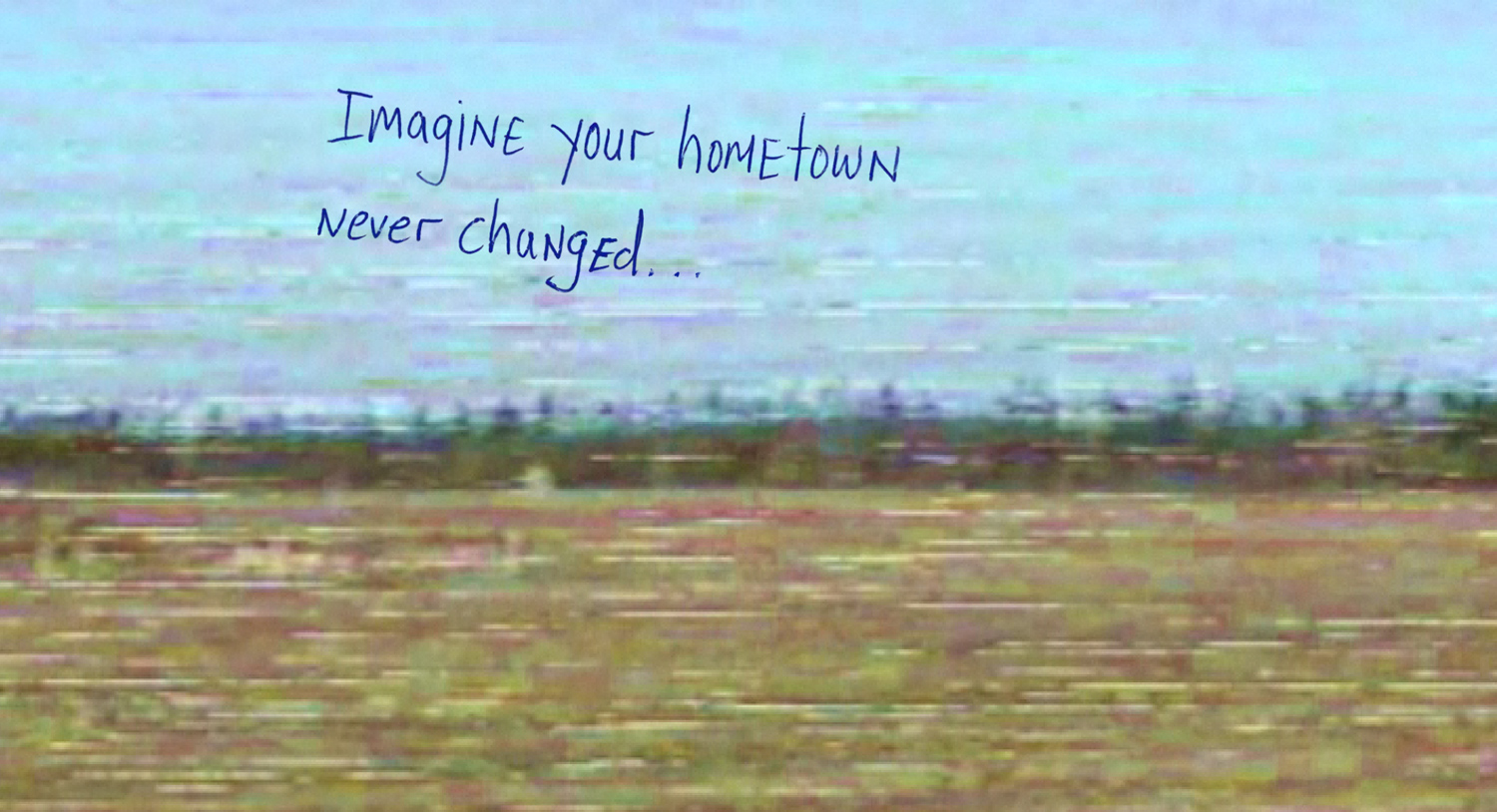 A screen capture showing the opening page of  Welcome to Pine Point by the Goggles, a project awarded two Webby Awards in 2011.