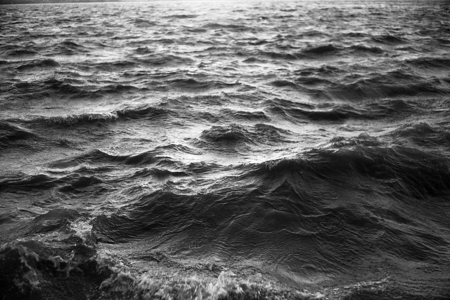 The Hudson River water, seen in high winds, from Croton Point Park. 2010.