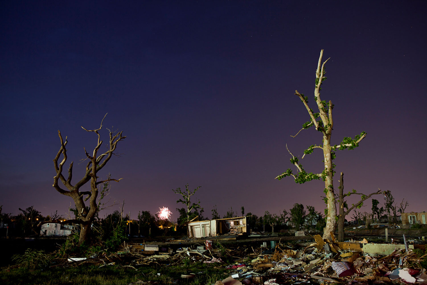 July 2, 2011. In tornado-ravaged Joplin, Mo., residents light July4 fireworks amid the ruins of their community. The May twister there—the deadliest U.S. tornado since 1947—killed 157 people.