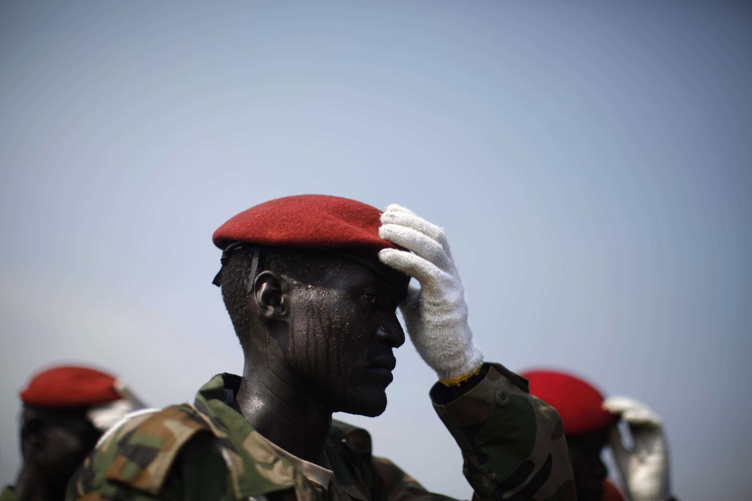 July 5, 2011. Soldiers take part in a military parade a few days ahead of the July9 independence of South Sudan. The festivities are likely to be short. The separation of Sudan into two states has ignited rounds of fighting on both sides of the new border.