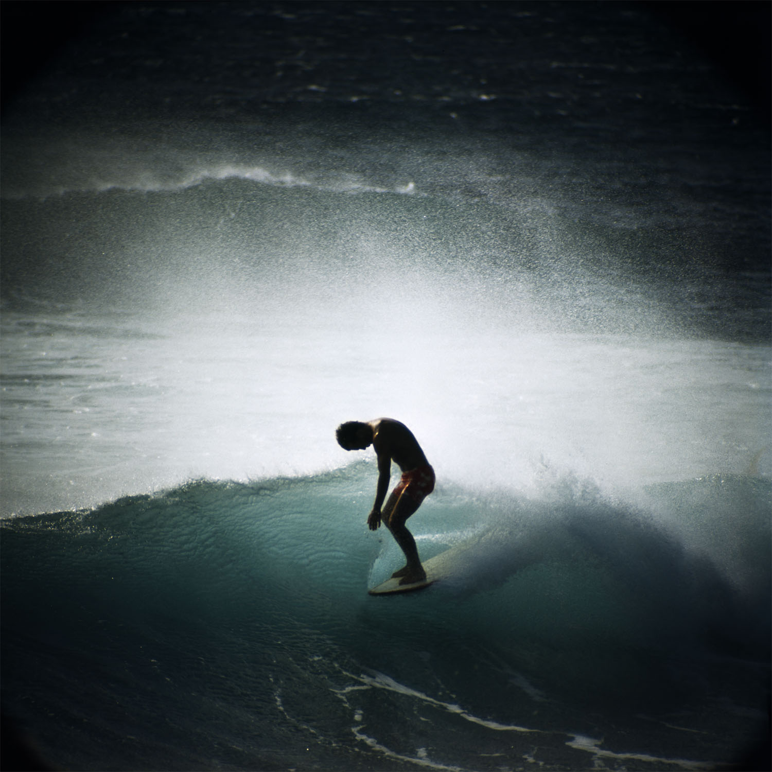 Midget Farrelly Surfing Shore Break, Makaha, 1968