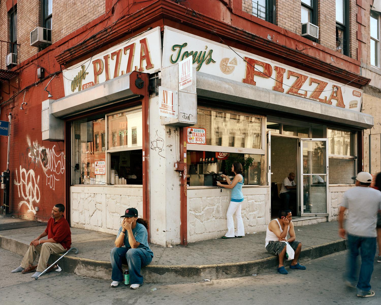 Neighborhood Residents In Front Of Tony's Looking West From Knickerbocker Avenue & Dekalb Avenue, Brooklyn, 2010