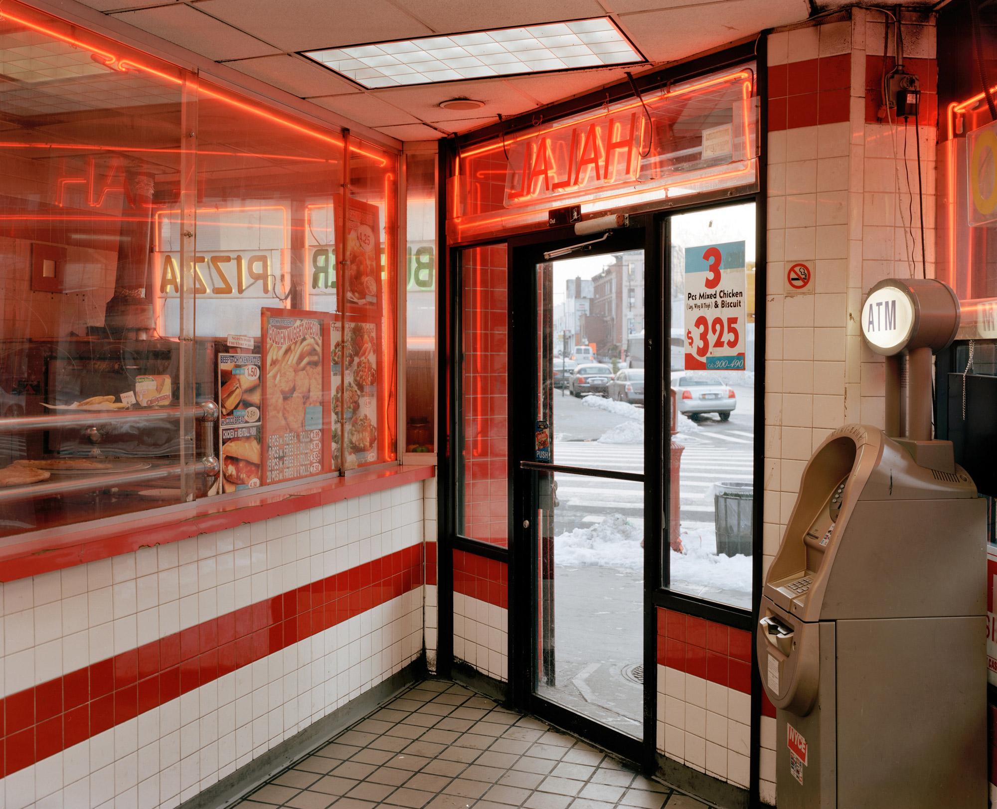 Crown Fried Chicken Looking South From Fulton Street & Franklin Avenue, Brooklyn, 2010