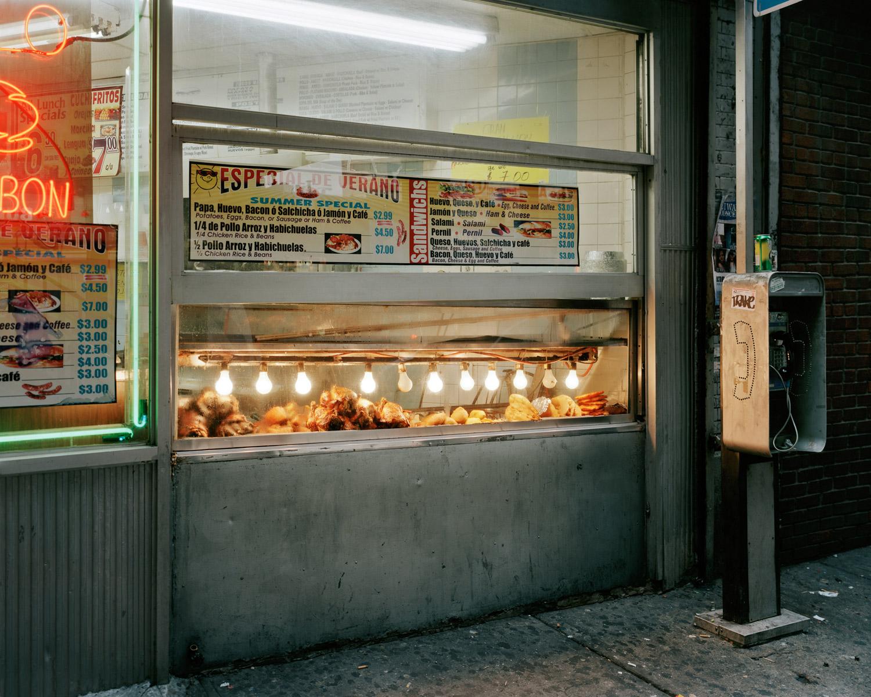 Fried Food Under Hot Lights Looking West From Jerome Avenue & West Burnside Avenue, Bronx, 2010