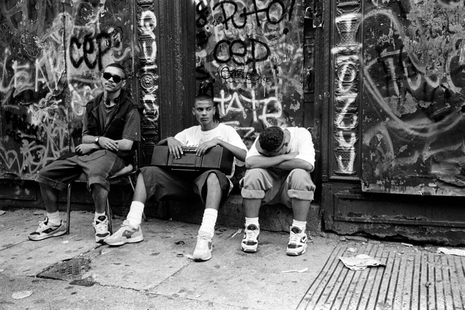 Hanging out with the radio, from Bronx Boys (FotoEvidence, 2011) by Stephen Shames.