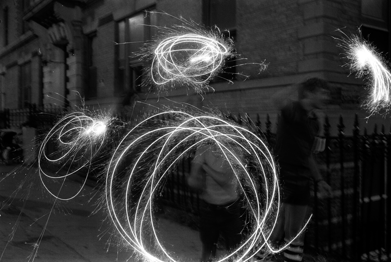 Sparklers, from Bronx Boys (FotoEvidence, 2011) by Stephen Shames.