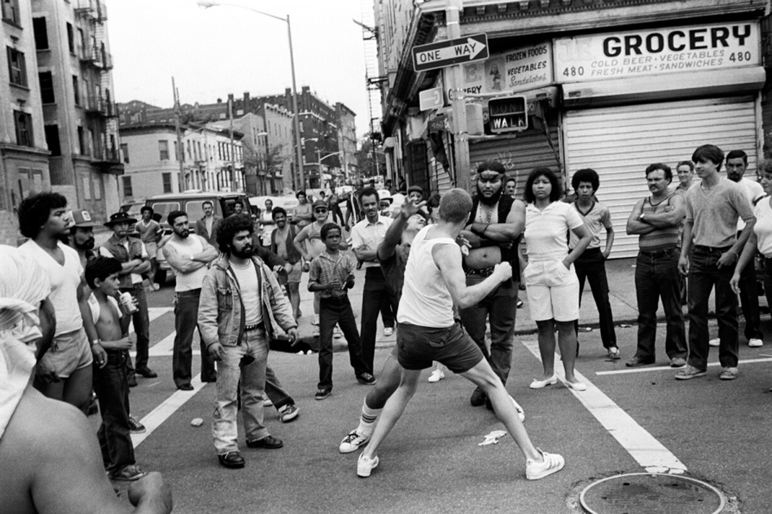 A street fight, from Bronx Boys (FotoEvidence, 2011) by Stephen Shames.