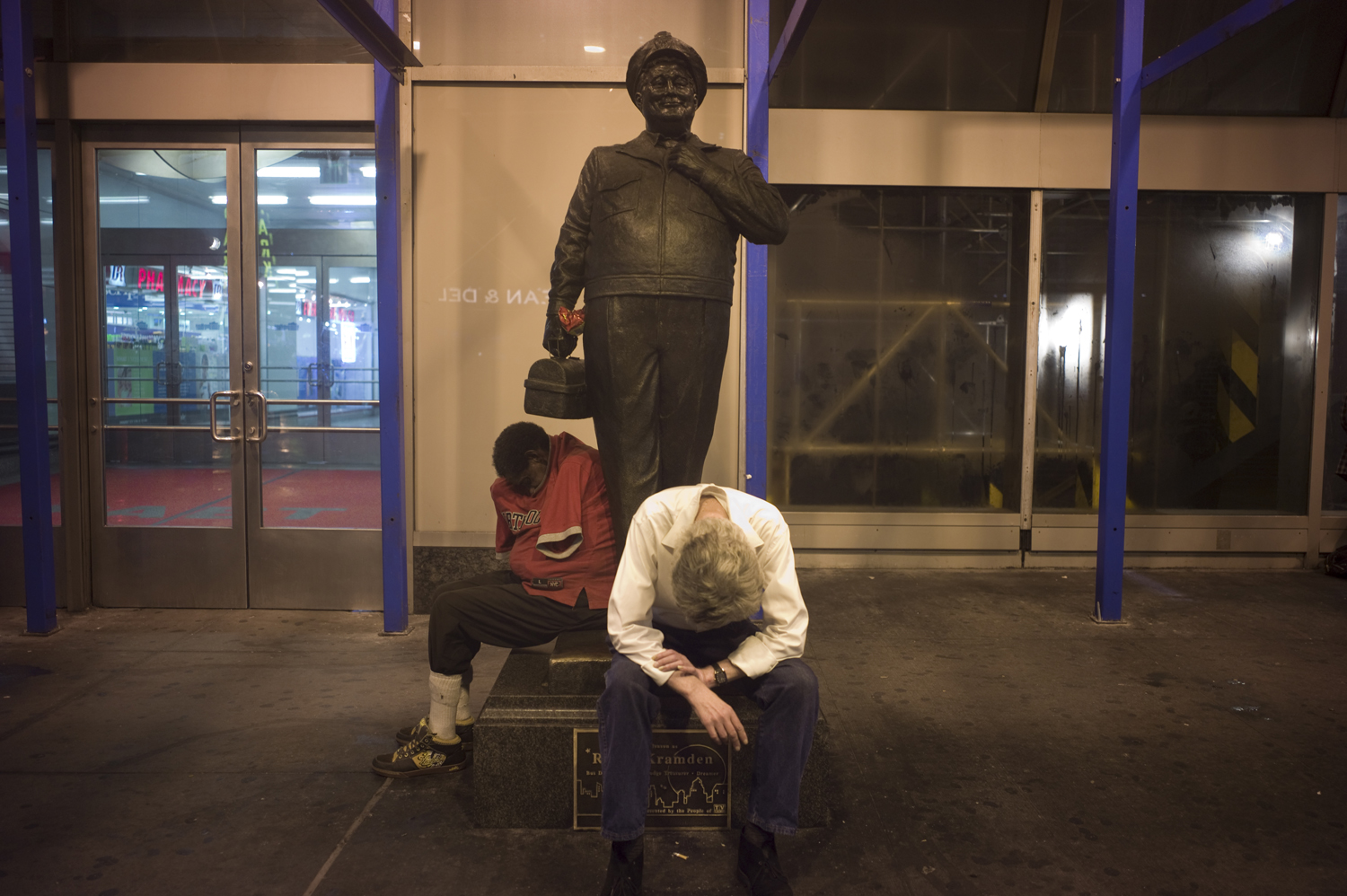 August 27, 2011, New York, NY. A late night scene outside the empty Port Authority Bus Terminal.