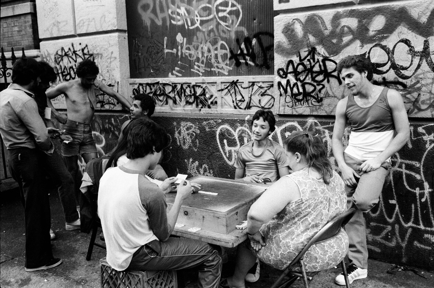 Games on the street, from Bronx Boys (FotoEvidence, 2011) by Stephen Shames.