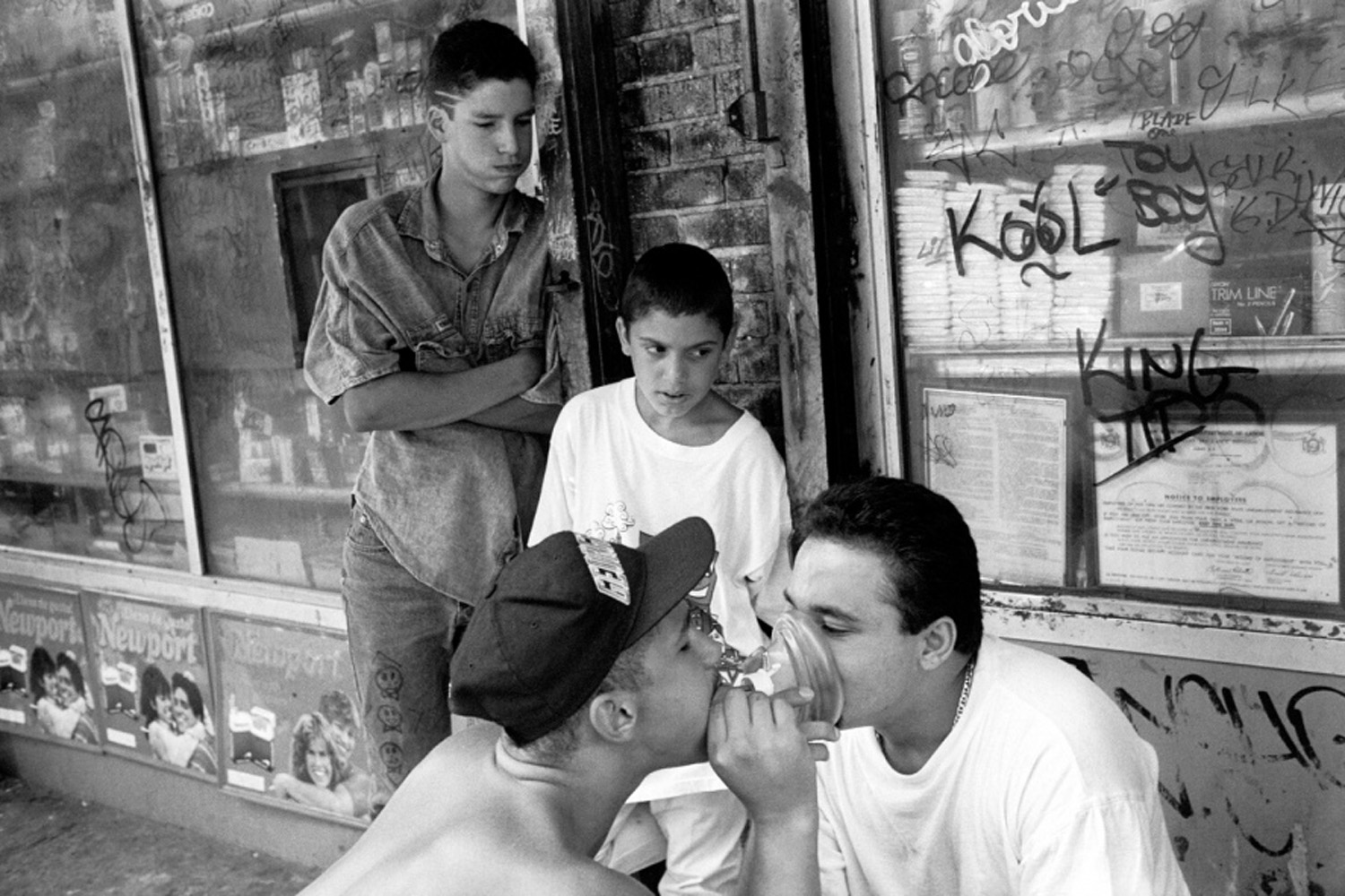 Getting high, from Bronx Boys (FotoEvidence, 2011) by Stephen Shames.
