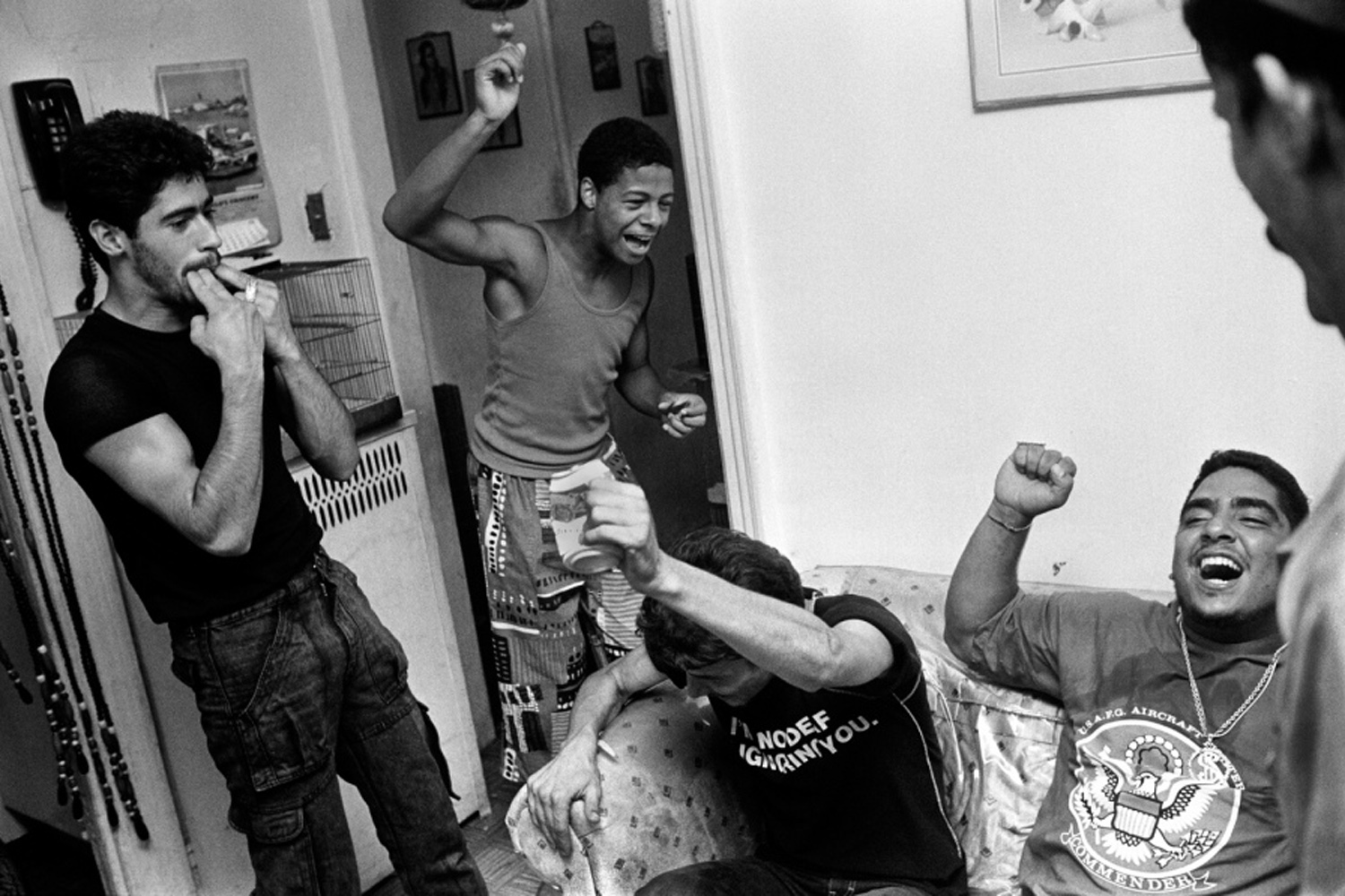 A scene at a party, from Bronx Boys (FotoEvidence, 2011) by Stephen Shames.