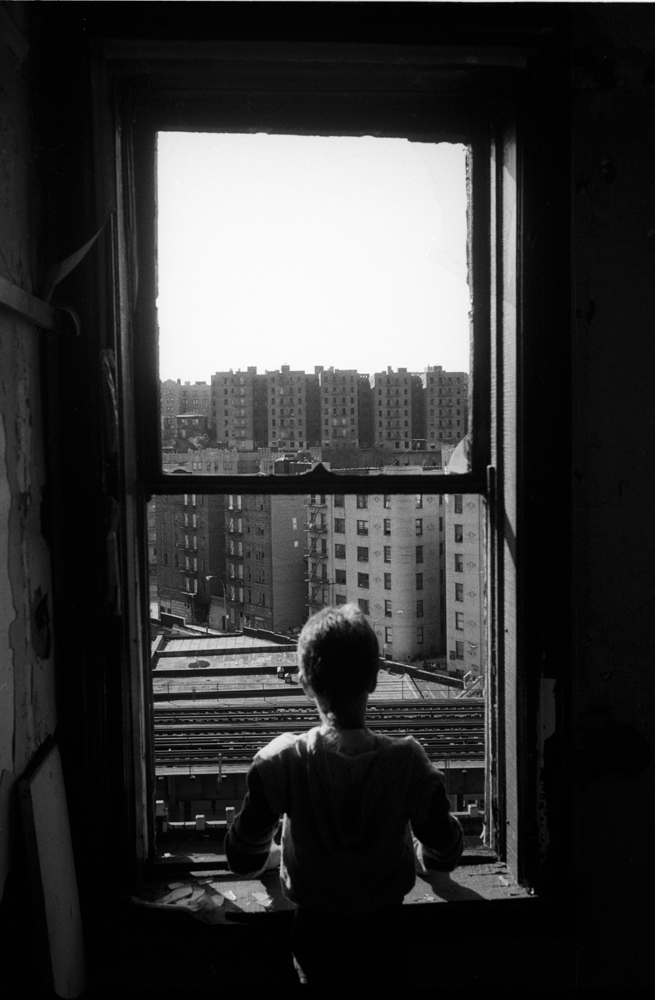 Looking out the window, from Bronx Boys (FotoEvidence, 2011) by Stephen Shames.