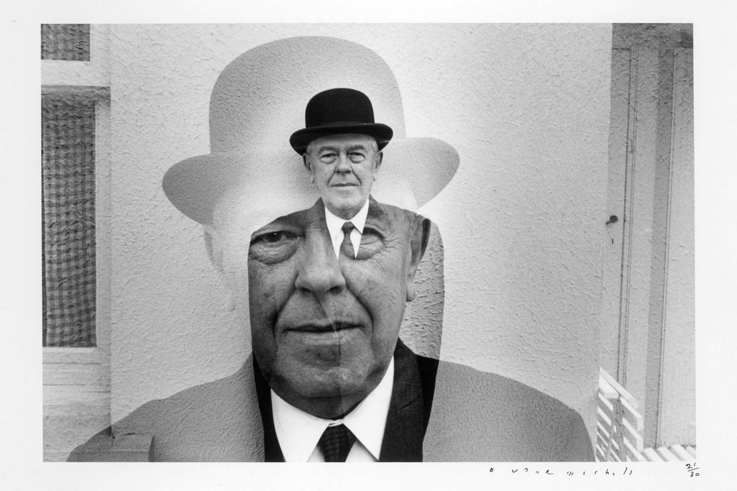 Rene Magritte in Bowler Hat (Multiple Exposure), 1965