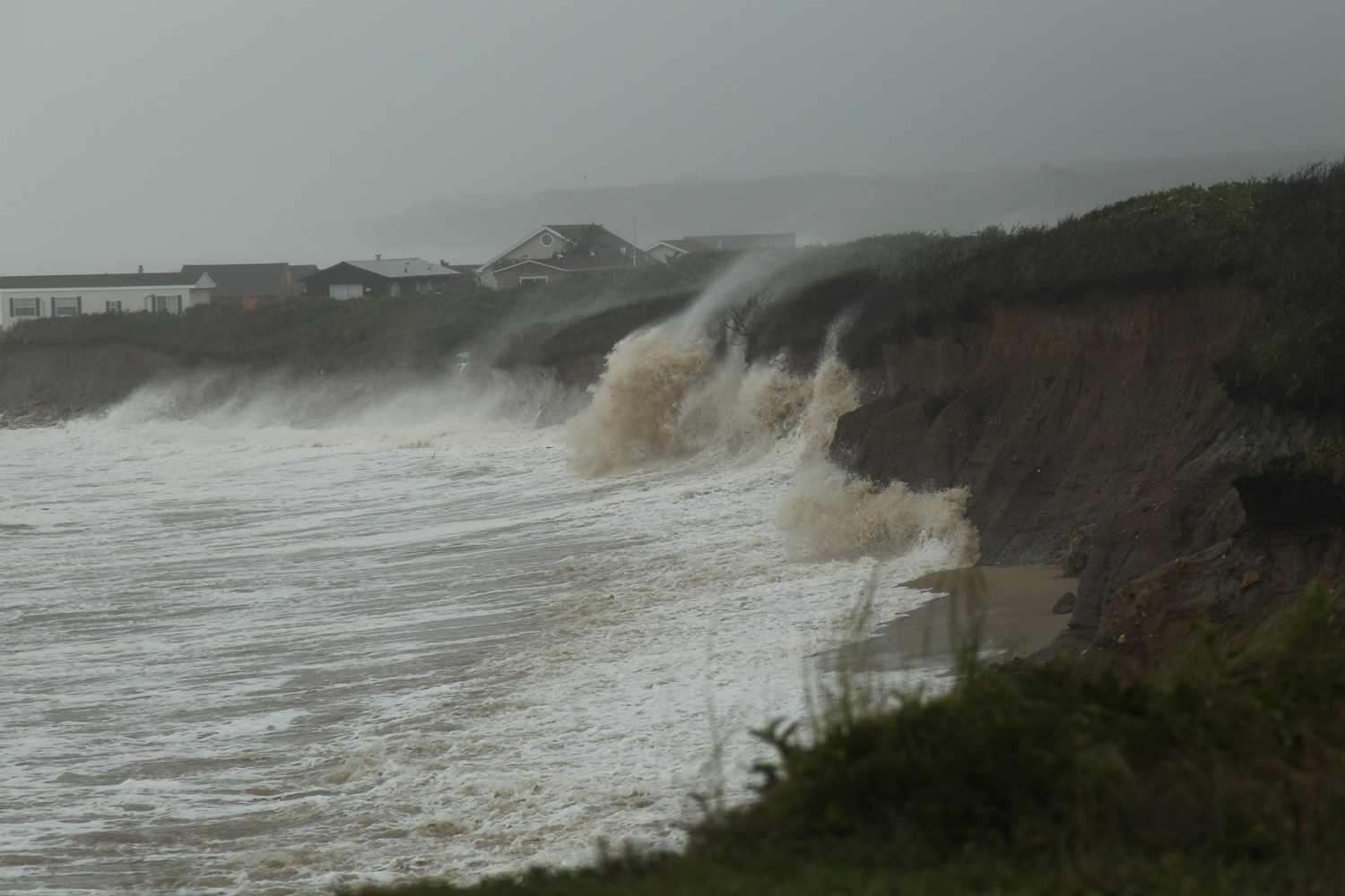 August 28, 2011, Montauk, New York. Early Sunday the waves from Irene continued to pound Long Island's coast.