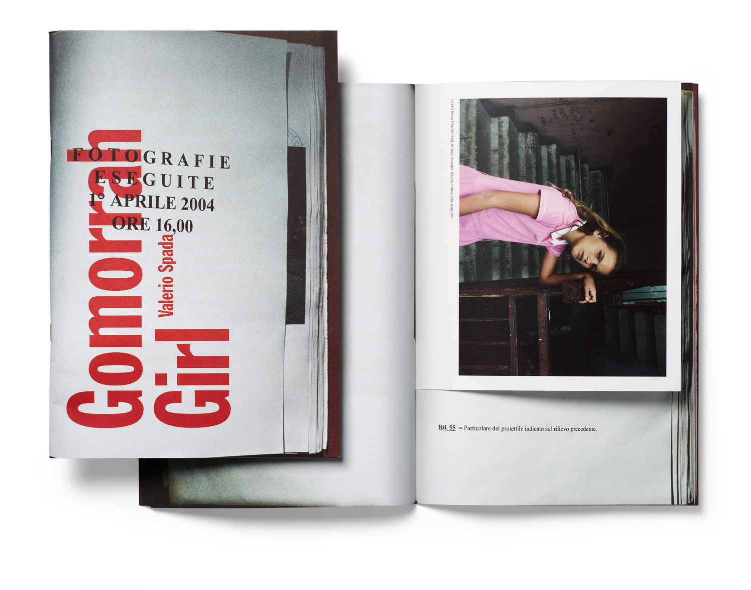 From left: The cover of Valerio Spada's self-published photo book Gomorrah Girl, the grand prize winner of 4th annual Blurb Photography Book Now Competition. The book is an artfully made documentary about adolescence in one of the most dangerous places in Italy to grow up. Image right: Rossa (The Red Sail), 9th Floor, Scampia, Naples. Anna, nine years old.