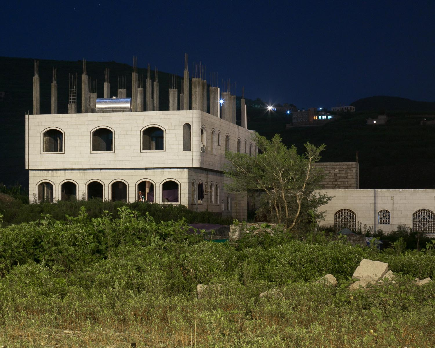 A new building in Ibb. August 2010.